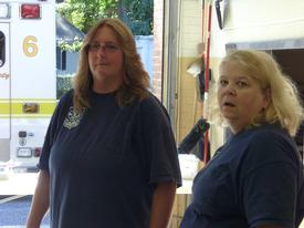 2010 Open House Organizer, Member Karen Cutler on the left and Member Ruth Orndorff on the right
