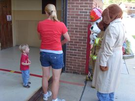 Possible future member meeting the Mascotts at the 2010 Open House