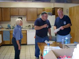 HHVFD Member Billie Armstrong, HHVFD President Bob Jones and HHVFD Vice President John Storm at the 2010 Open House